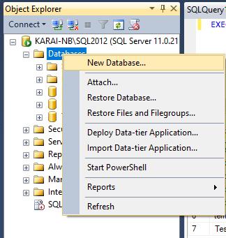 Membuat database SQL