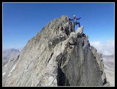 En la cima de la Aguja Jean Garnier