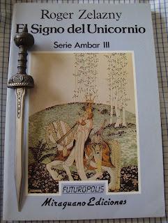 Portada del libro El signo del unicornio, de Roger Zelazny
