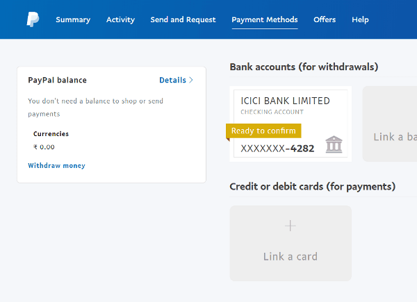 Step 18 Check and confirm bank details