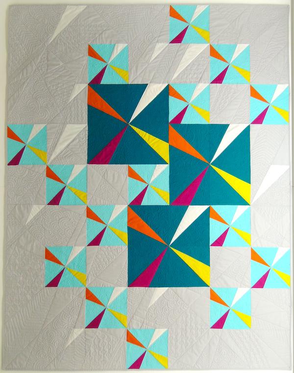 the modern quilt guild, charity quilt, pinwheel quilt, boulder modern quilt guild
