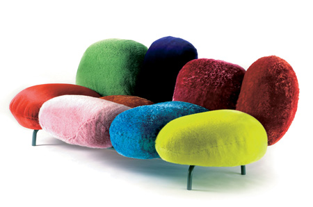Fun Sofas gafunkyfarmhouse: picture parade: colorfully wild and wacky sofas