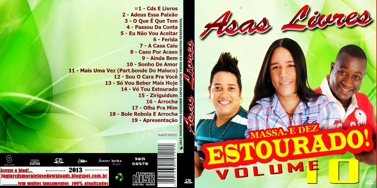 cd asas livres ao vivo estourado cd 2013