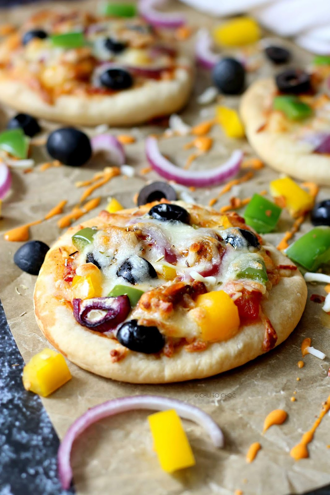 Freezer-Friendly Mini Peri Peri Pizzas