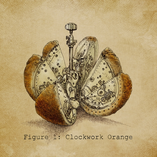 02-Clockwork-Orange-Eric-Fan-Illustration-of-Fantasy-Characters-in-Surreal-Worlds-www-designstack-co