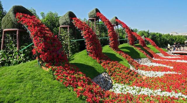 Indahnya Dubai Miracle Garden, Taman Terbesar di Dunia
