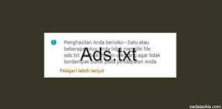Cara Pasang Ads.txt ke Blogger