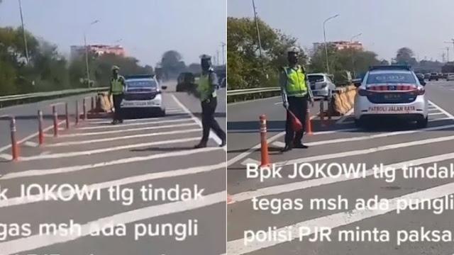 Viral, Polisi Diduga Palak Pengendara di Jakarta, Berhentikan Mobil dan Minta Rp50 Ribu