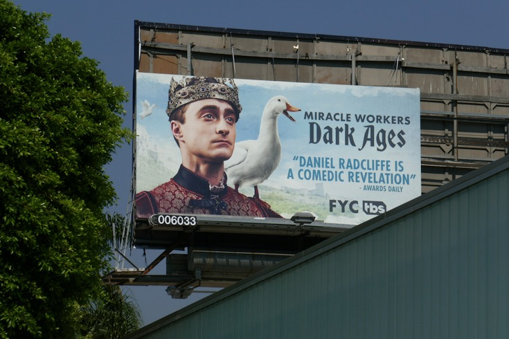 Miracle Workers Dark Ages Emmy FYC billboard