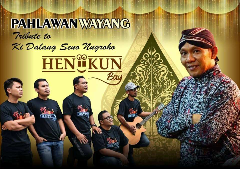 Poster lagu Pahlawan Wayang dari Heniikun Bay yang didedikasikan untuk dalang kondang almarhum Ki Seno Nugroho.
