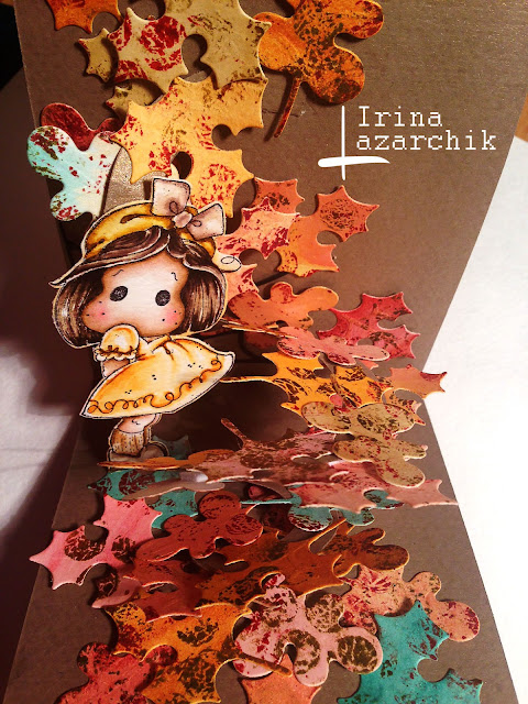 поп-ап, Irina Lazarchik, scrapbook, tildastamp, distress ink