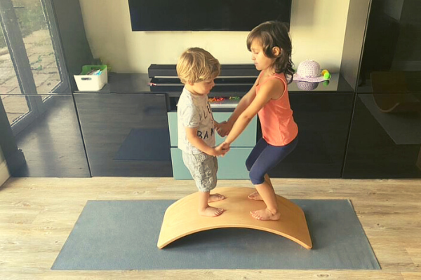 capikooa balance board with yoga mat