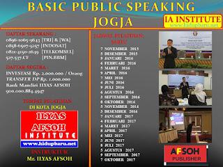 Pelatihan Public Speaking di Yogyakarta