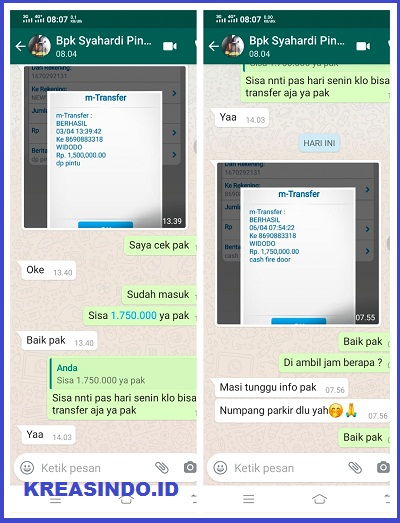 Pintu Fire Door pesanan CV BMS untuk di Jakarta