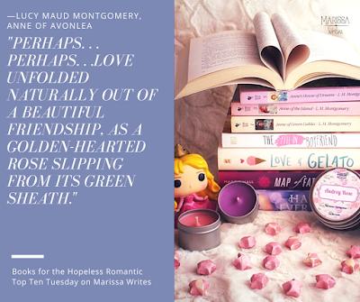 A dozen books for the hopeless romantic - a Top Ten Tuesday list on Reading List