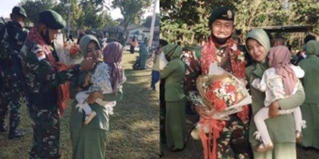 Lama Ditinggal Dinas Sebagai TNI, Anak Perempuan Ini Tidak Kenal sama Sang Ayah