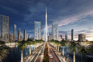 Artist's concept of The Tower at Dubai Creek Harbour