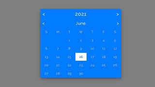 flat design datepicker