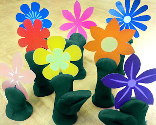 NAMC montessori earth day activities recycling modeling dough free printables flowers