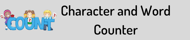 Character and Word Counter For Website