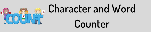Character and Word Counter