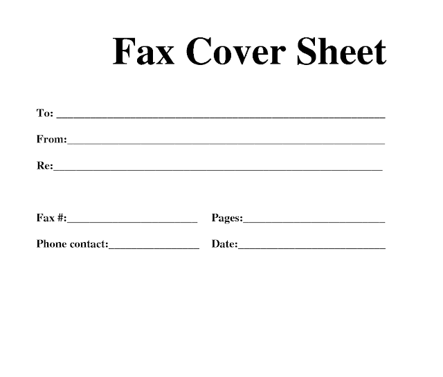 Fax Sheet Template Free – Free Fax Template