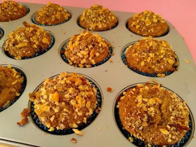 Muffins veganos de platano nueces y datiles la cocinera novata reposteria receta cocina gastronomia vegetariano vegano bajo en calorias