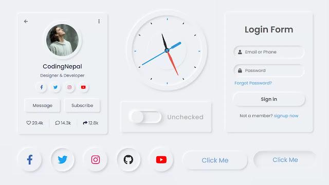 Top 10 CSS3 Neumorphism UI Design Examples