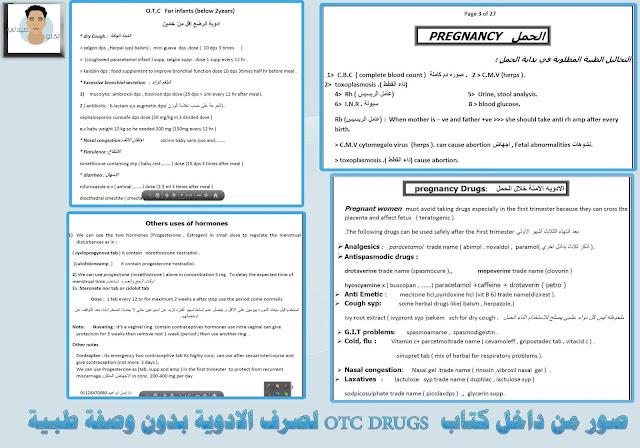 صور من داخل كتاب  OTC DRUGS لصرف الادوية بدون وصفة طبية