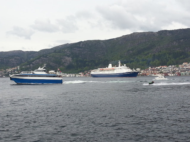 CMV Cruise ship Marco Polo in Bergen, Norway