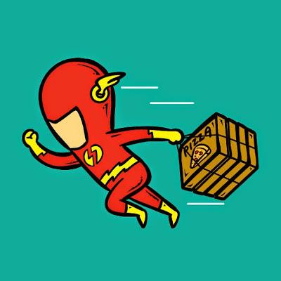 Flash entrega pizza a domicilio