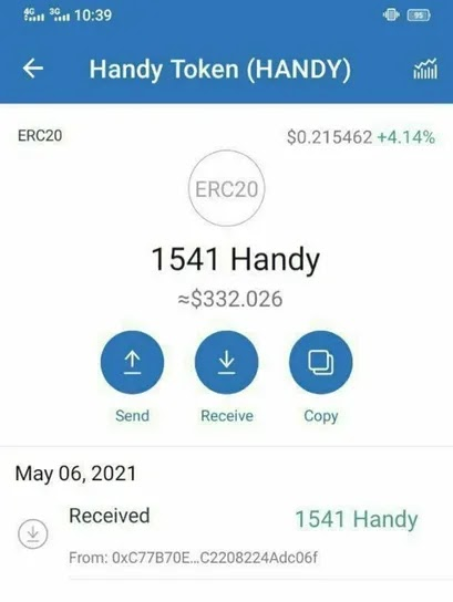 Earn Free 110 Handy ($9 Dollars)  Crypto From HandyPick Game