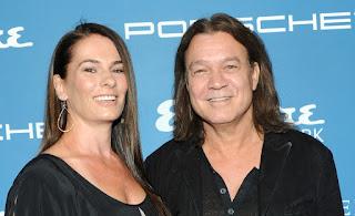American actress Janie Liszewski with her late husband Eddie Van Halen