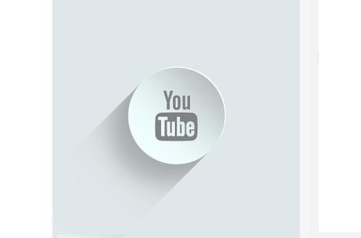 Youtube Logotipo en Color Gris