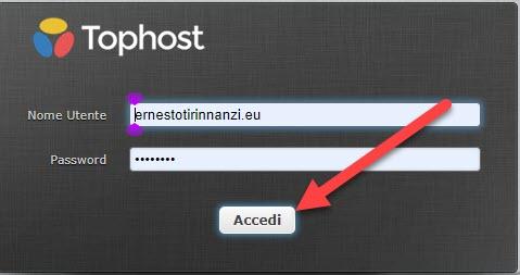 login webmail di tophost