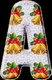 Abecedario con Campanas de Navidad en 2 Versiones. 2 Alphabets with Christmas Bells.