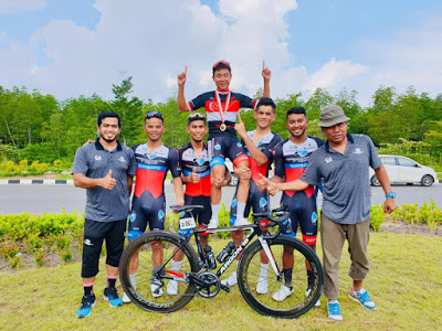 TSG Juara kejohanan OCBC Cycle National Road Championship (Men's Elite) di Singapura. Tahniah pelumba dan team TSG, Goh Choon Huat