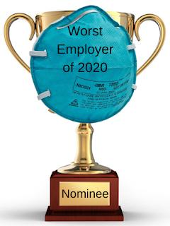 "Coronavirus Update 10-28-2020: The 10th nominee for the ""worst employer of 2020"" is … the whistleblower whacker"