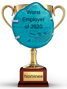 """Coronavirus Update 8-13-2020: The 7th nominee for the """"worst employer of 2020"""" is … the no-mask mandator"""