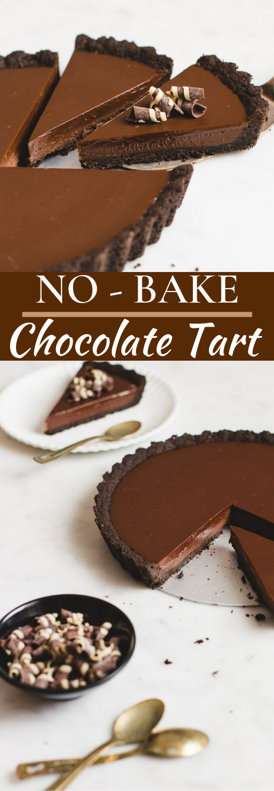 No-Bake Chocolate Tart #desserts #chocolate