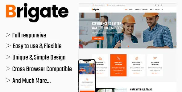 Best HTML5 Construction Template