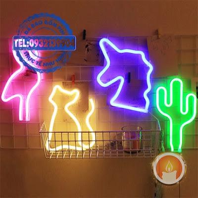 Đèn neon trang trí nhiều hình
