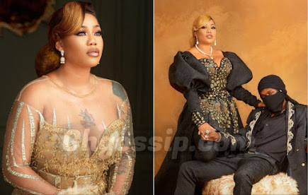 'I Will Be Wearing A Black Wedding Gown On My Wedding Day' - Toyin Lawani Says As She Shows Off Her Husband To-Be In New Photos