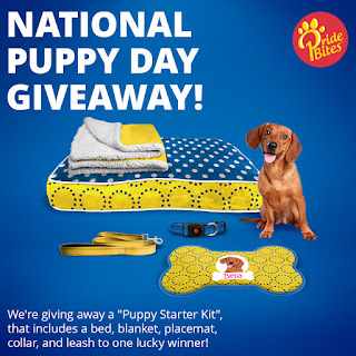 PrideBites National Puppy Day Giveaway badge