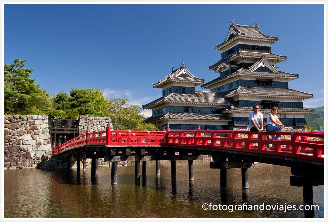 castillo de Matsumoto en Japón