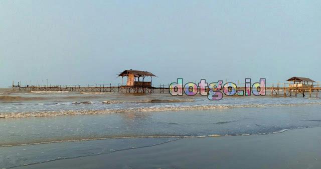 Wisata Pantai Tanjung Baru yang indah di Cilamaya Karawang desa Pasir Jaya