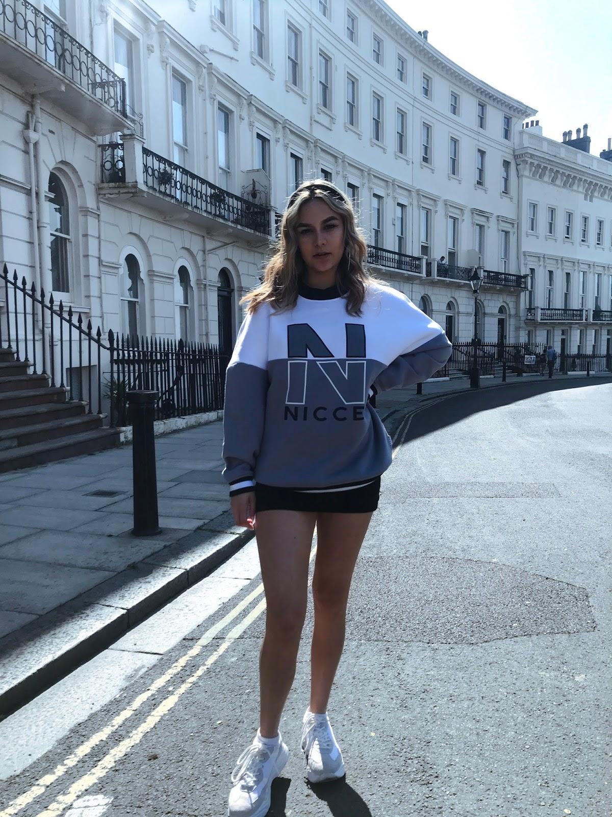 yasminstefanie nicce sweatshirt chunky ciara topshop trainers