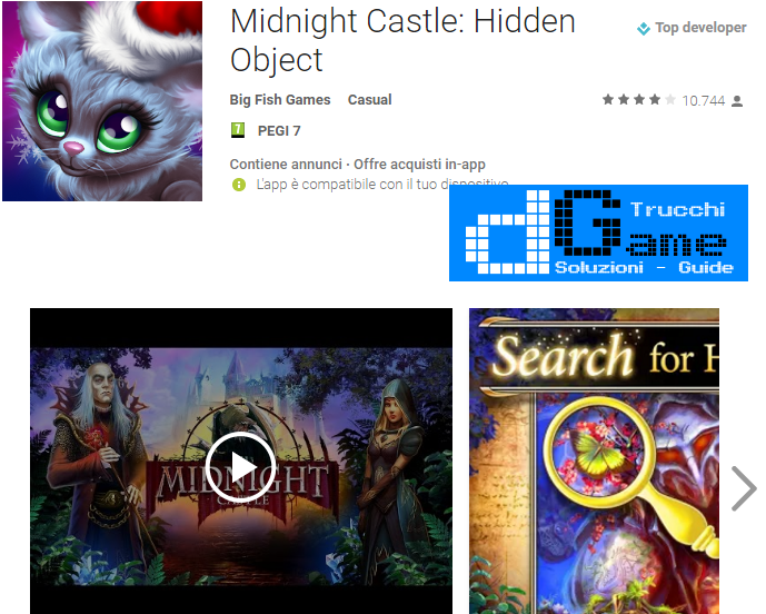 Trucchi Midnight Castle: Hidden Object  Mod Apk Android v1.14.10.1449