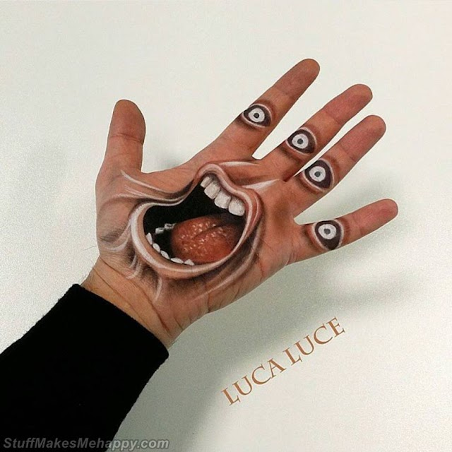 Outstanding 3D Optical Illusions by Makeup Artist Luca Luce