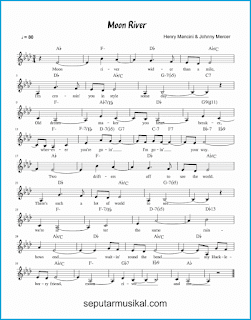 chord moon river lagu jazz standar